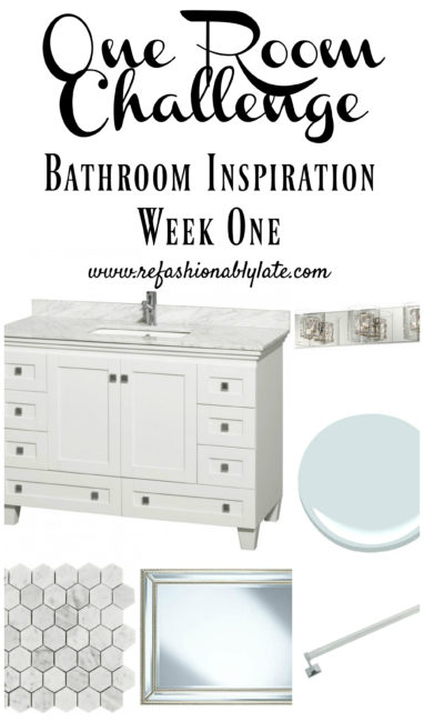 One Room Challenge Bathroom - Week 1 - www.refashionablylate.com