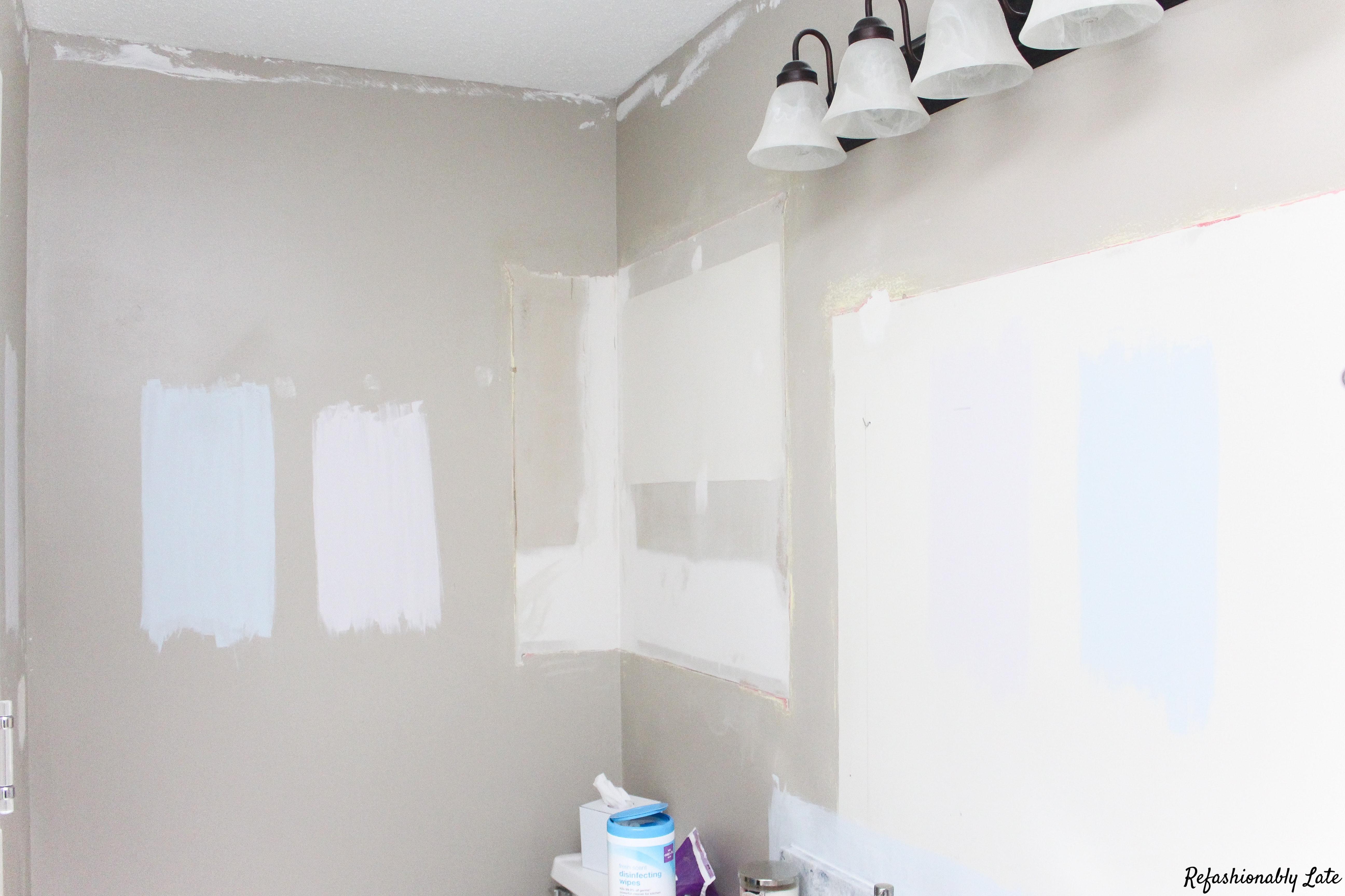 One Room Challenge Week 2 Bathroom Progress - www.refashionablylate.com