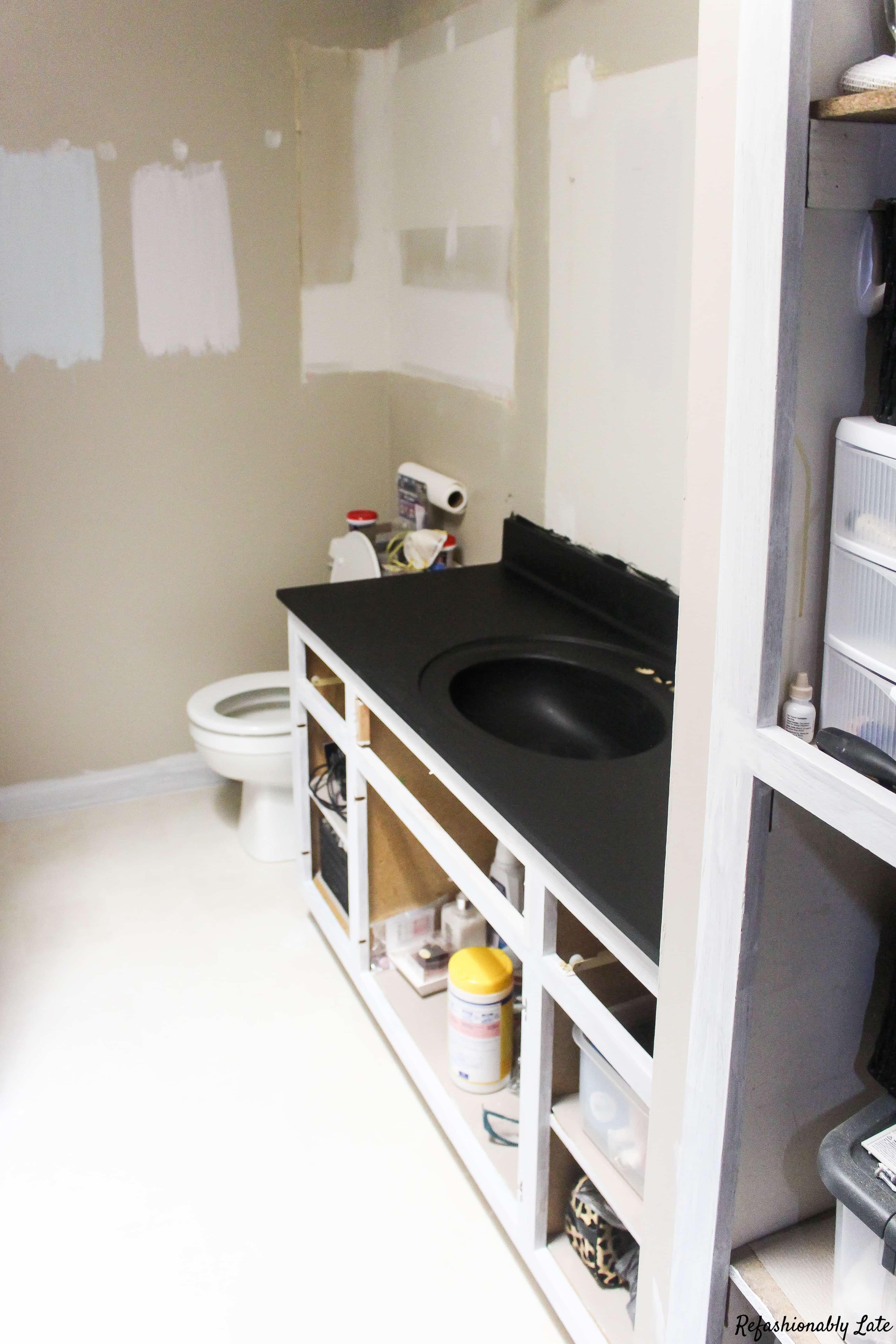 giani-One Room Challenge Week 4 Progress Bathroom - www.refashionablylate.com