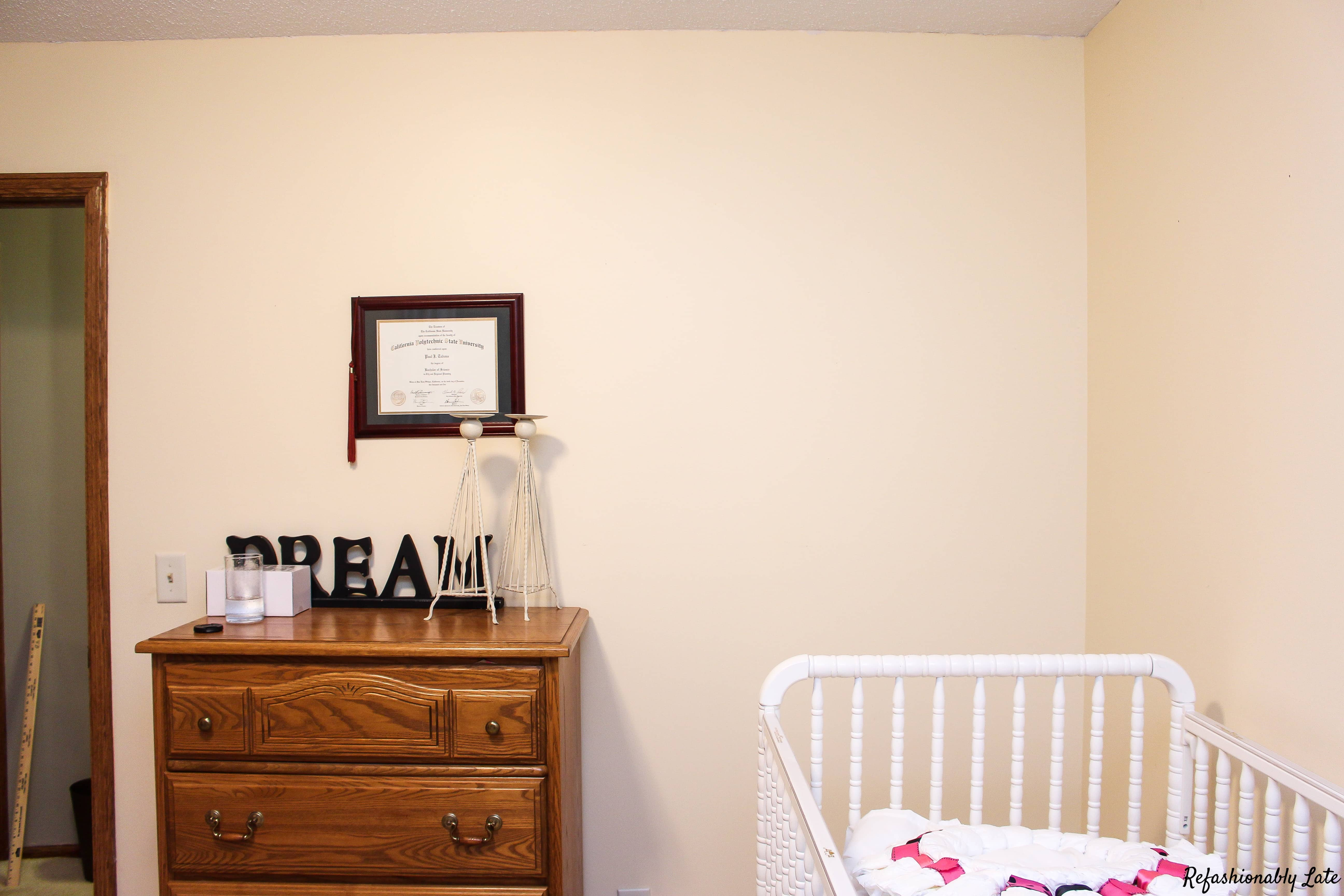 One Room Challenge Week 1 - Nursery - www.refashionablylate.com