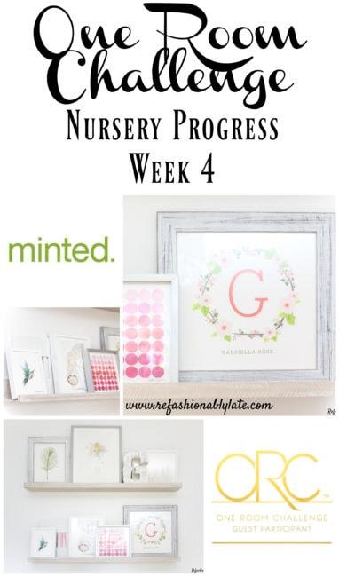 One Room Challenge Week 4 Nursery Progress - www.refashionablylate.com