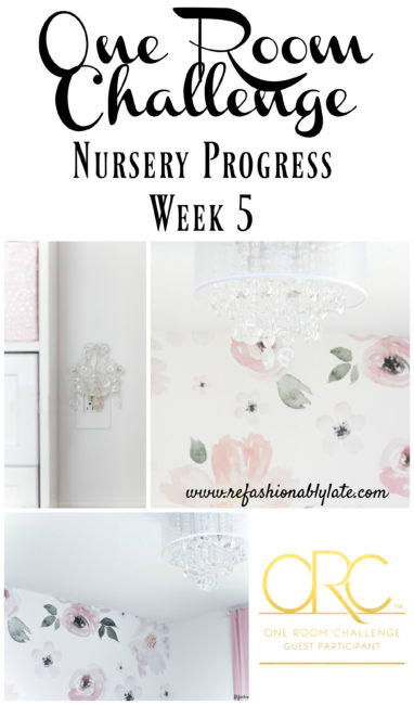 One Room Challenge Week 5: Nursery Progress - www.refashionablylate.com