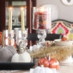 A Candle Lit Fall Tablescape