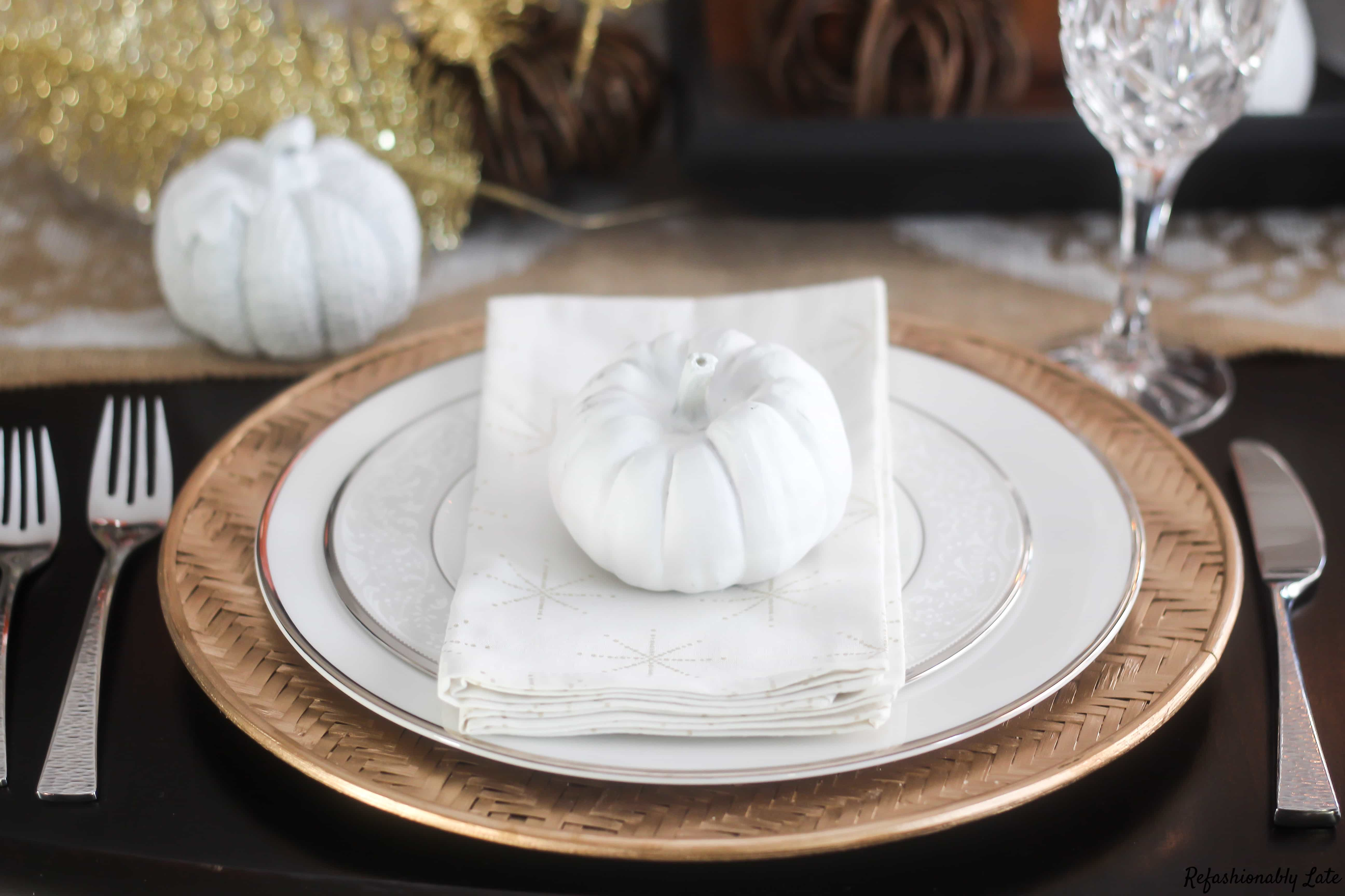A Candle Lit Fall Tablescape - www.refashionablylate.com