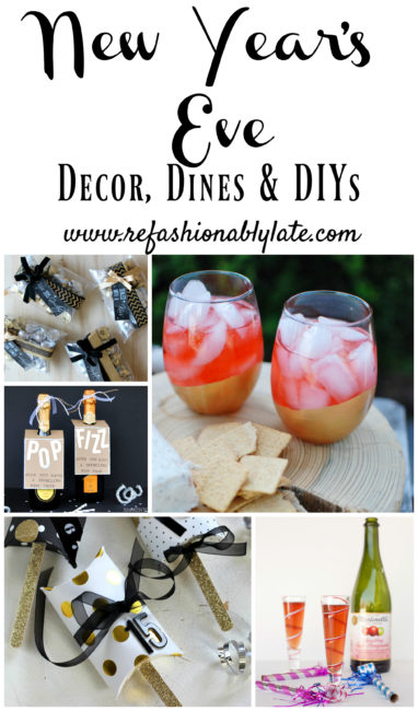 New Year's Eve Decor, Dines & DIYs - www.refashionablylate.com