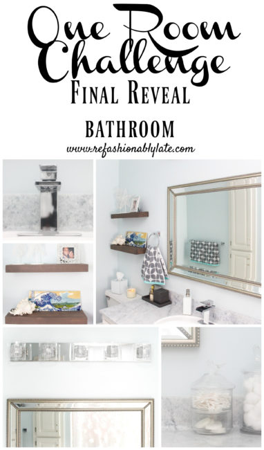 One Room Challenge Bathroom Final Reveal - www.refashionablylate.com