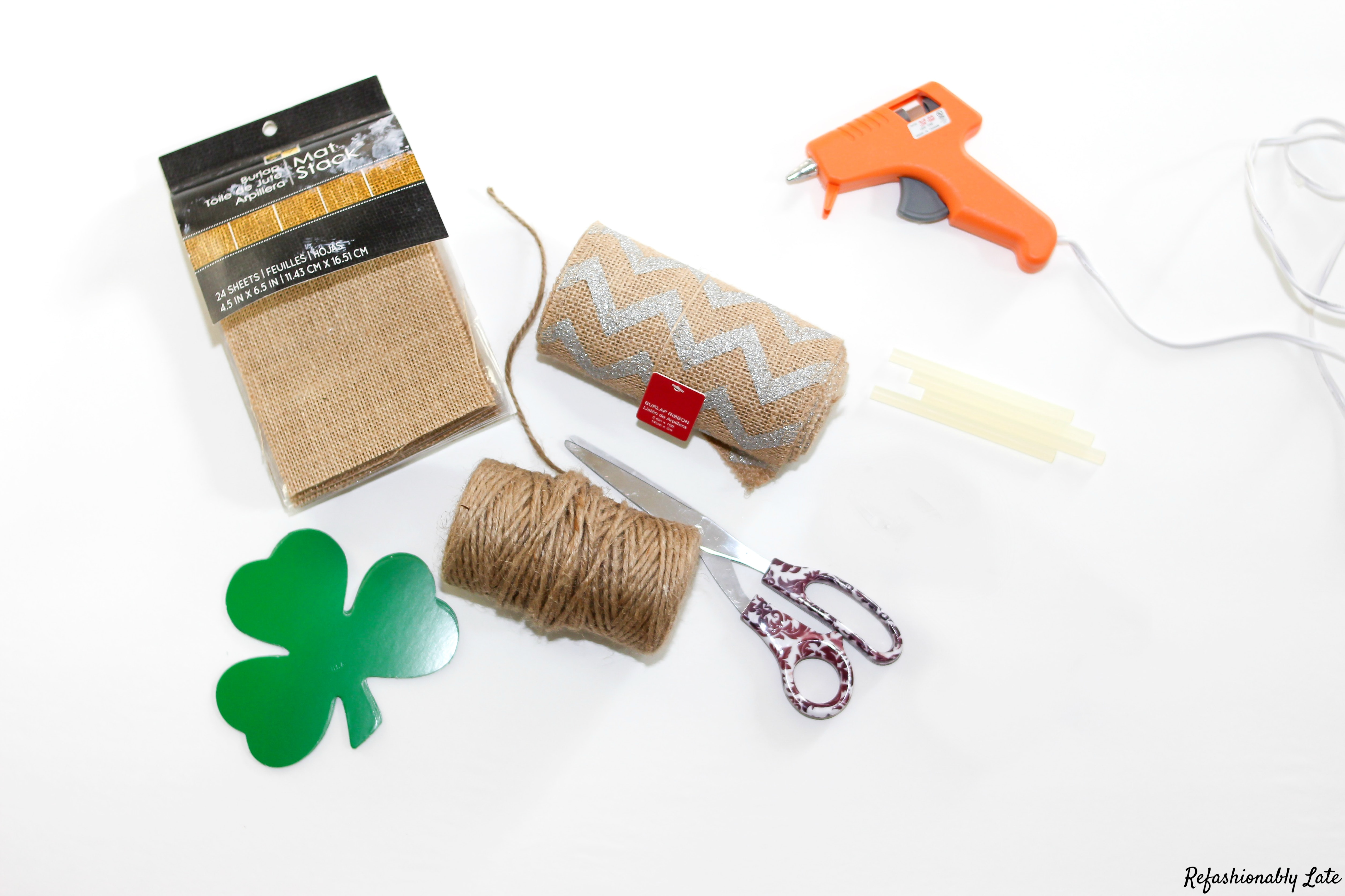St. Patrick's Day Quick DIY Banner - www.refashionablylate.com