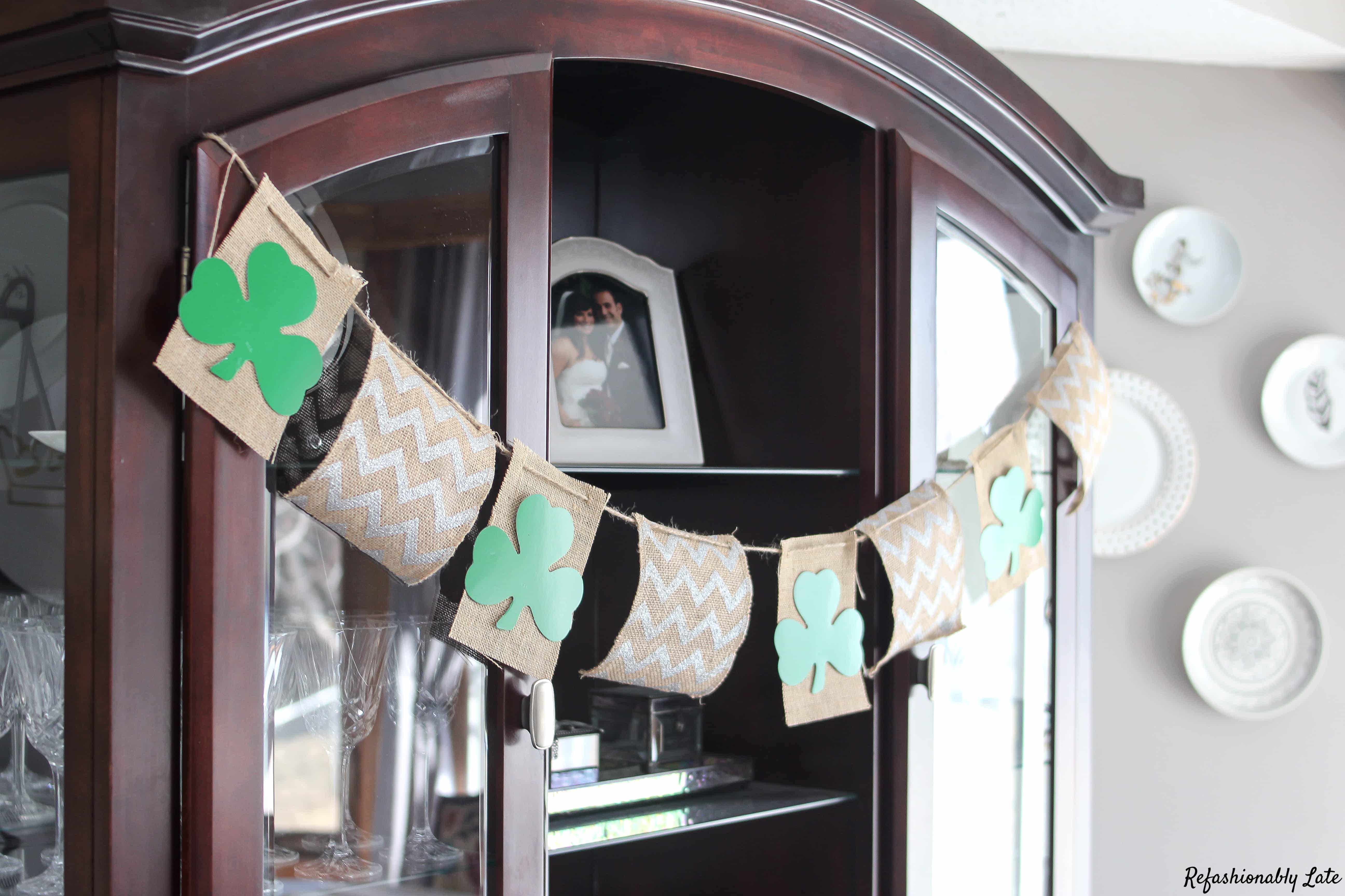 St. Patrick's Day Quick DIY Banner - www.refashionablylate.com
