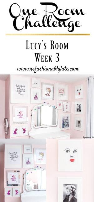 One Room Challenge Lucy's Room Week 3 - www.refashionablylate.com