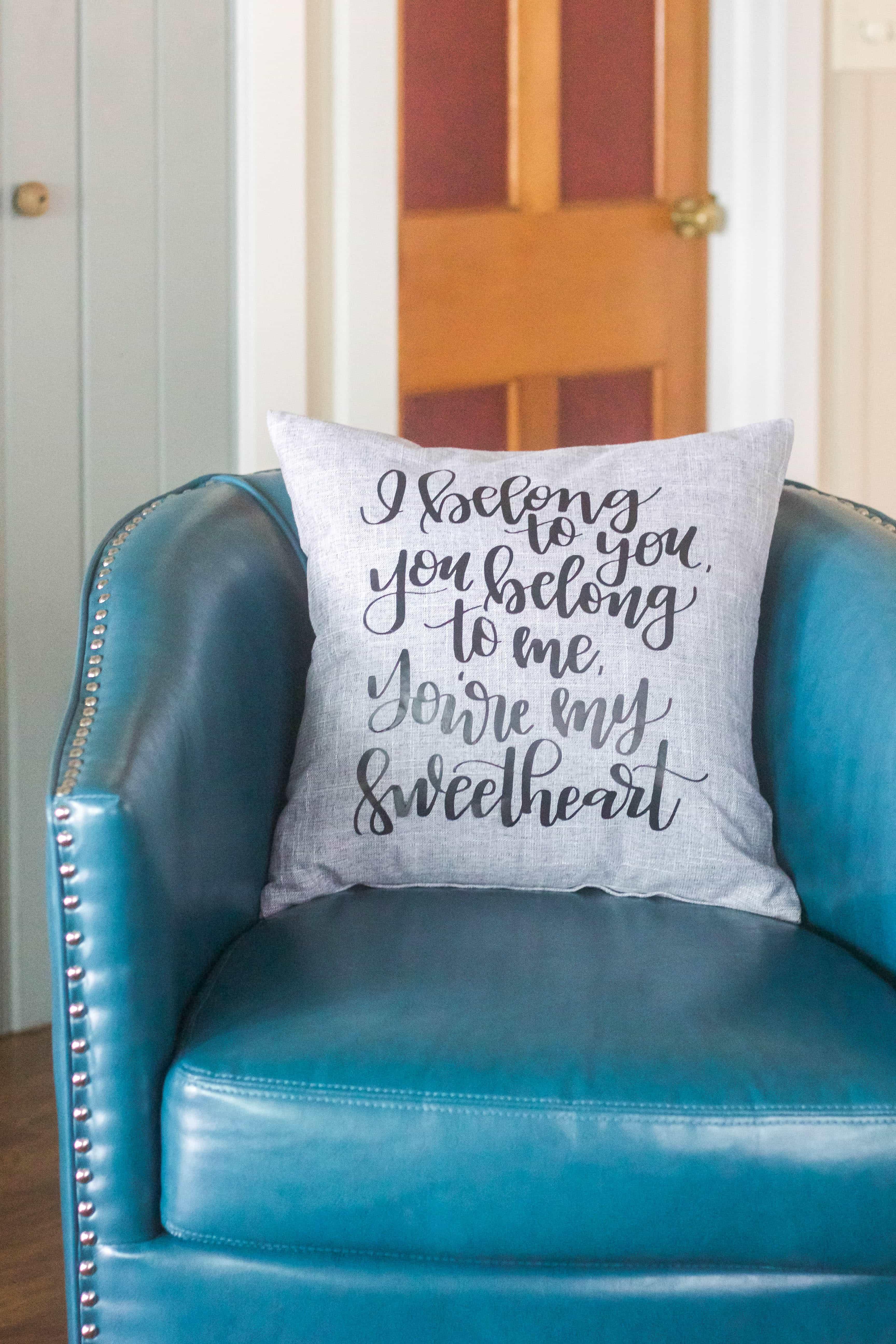 I Belong To You Pillow - www.refashionablylate.com