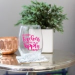 Teacher Wine Glass – My Dollar Store DIY