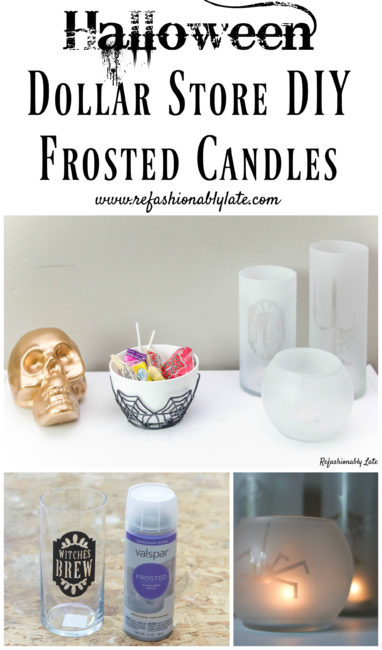 Frosted Halloween Candles - www.refashionablylate.com