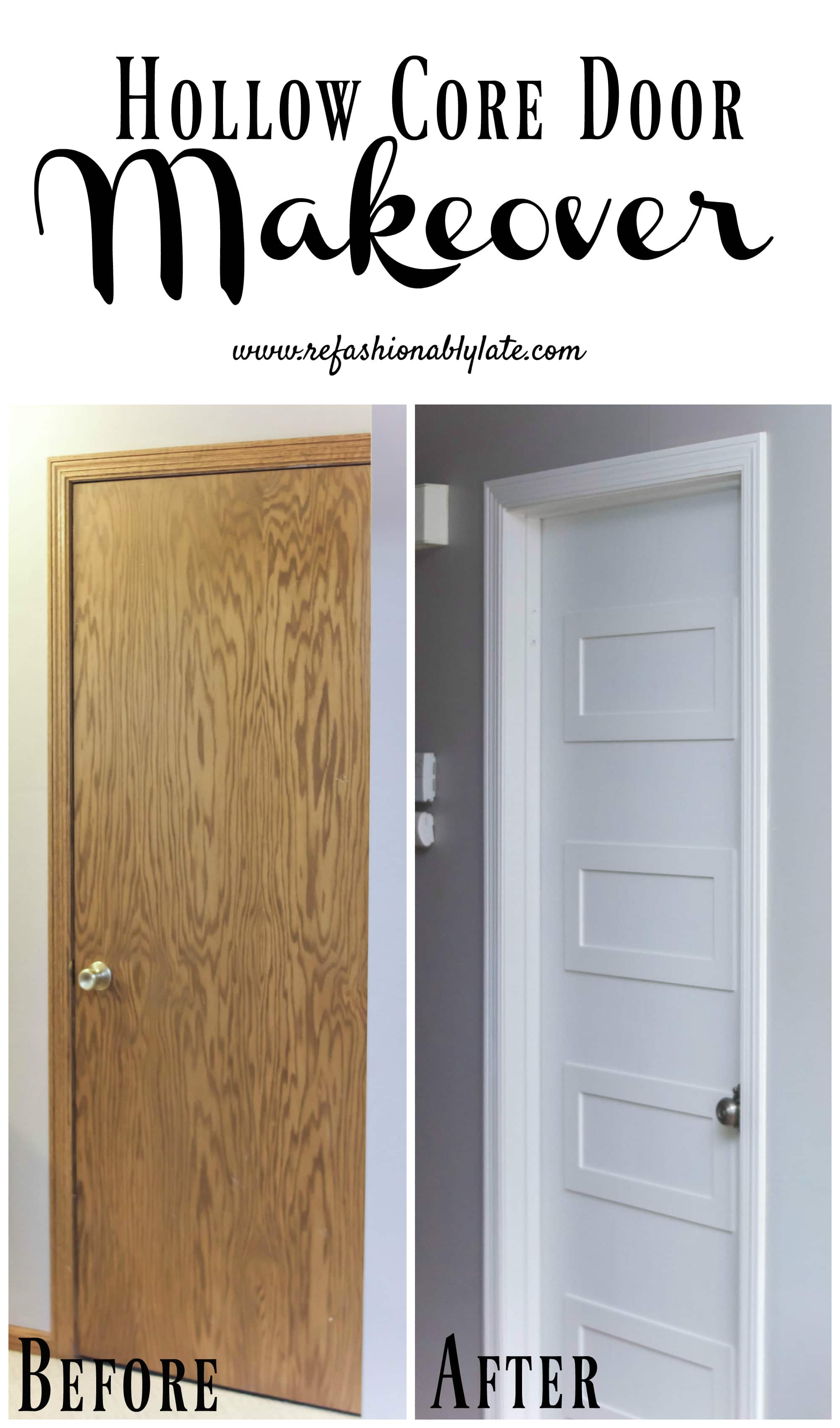Hollow Core Door Makeover Refashionably Late