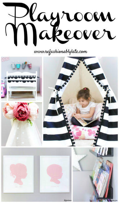 Playroom Makeover - www.refashionablylate.com