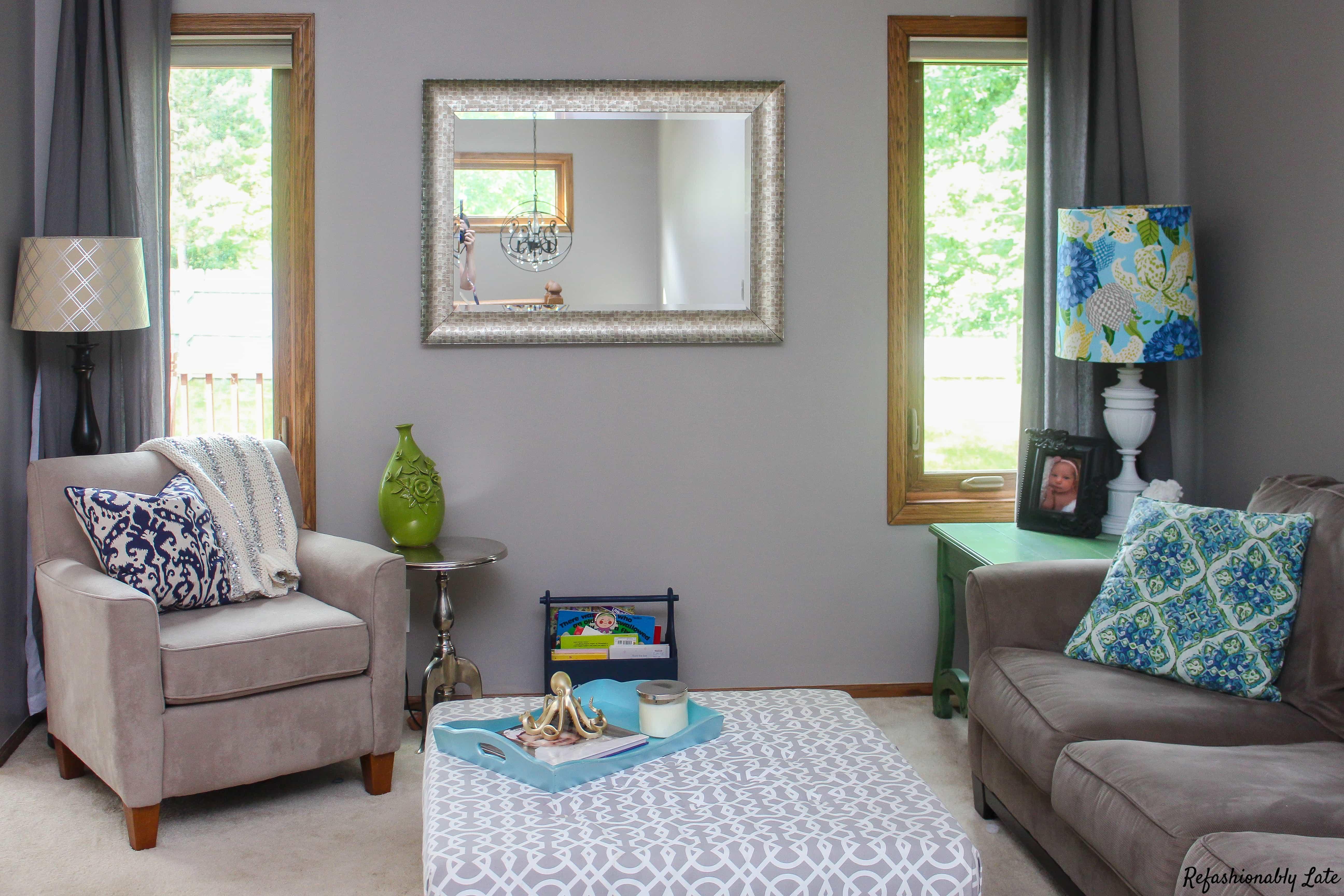 One Room Challenge Week 1 Living Room - www.refashionablylate.com