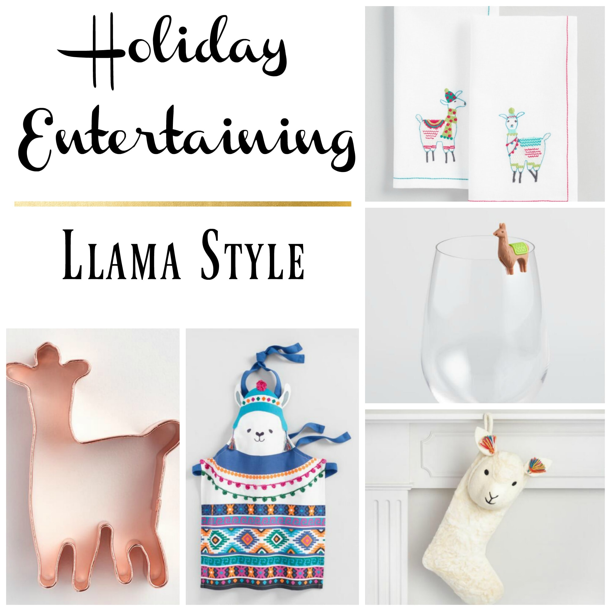 Holiday Entertaining Llama Style - www.refashionablylate.com