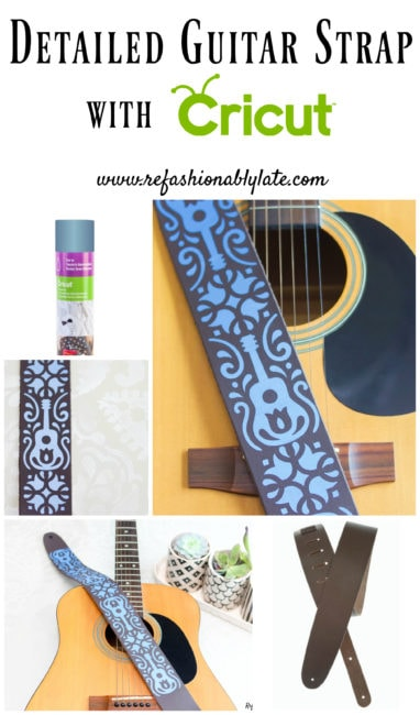 Detailed Guitar Strap with Cricut - www.refashionablylate.com