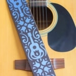 Detailed Guitar Strap with Cricut