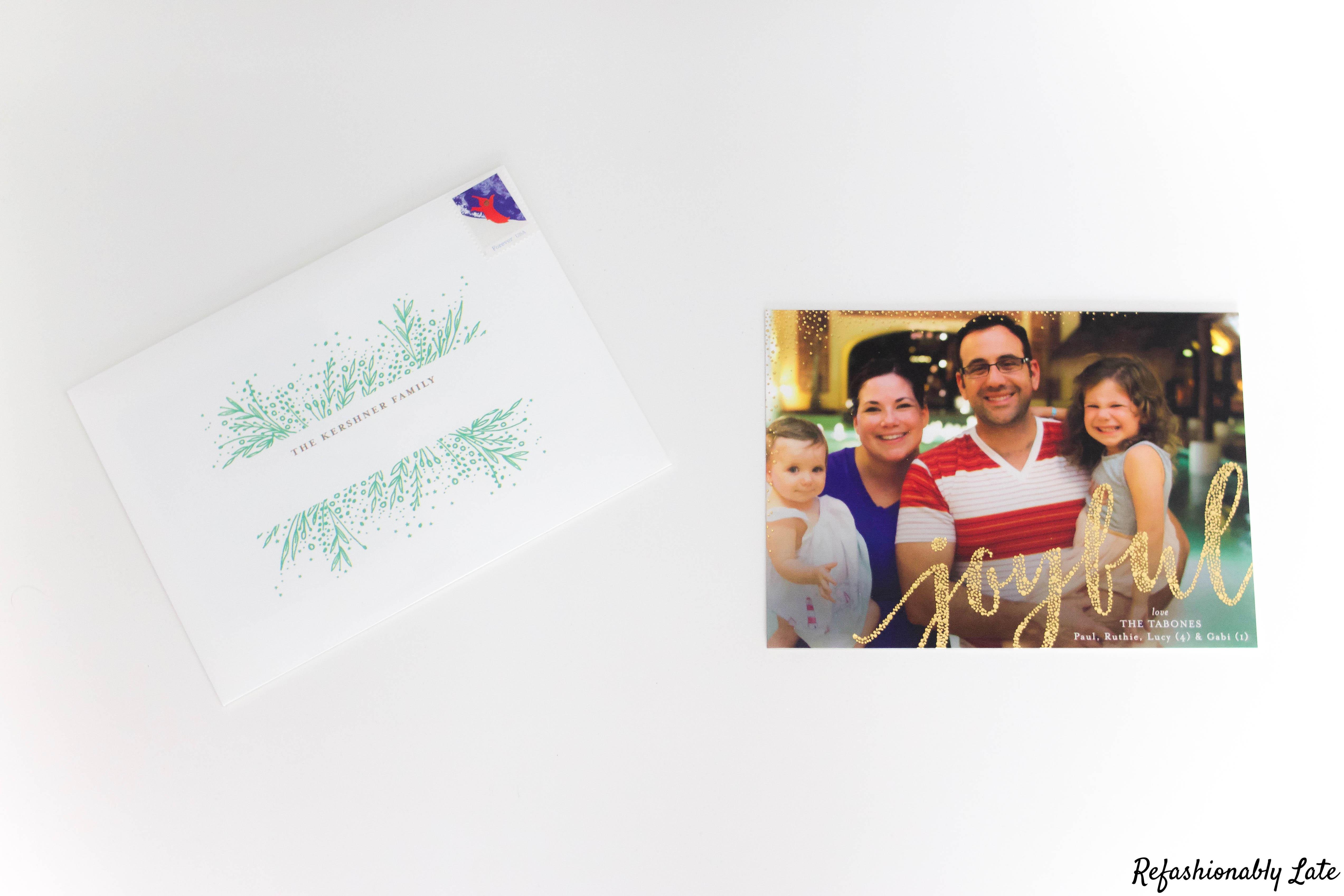 Happy Holidays from the Tabones - www.refashionablylate.com