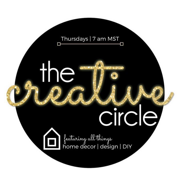 The Creative Circle link party featuring all things home decor design and DIY Thursdays 7am MST
