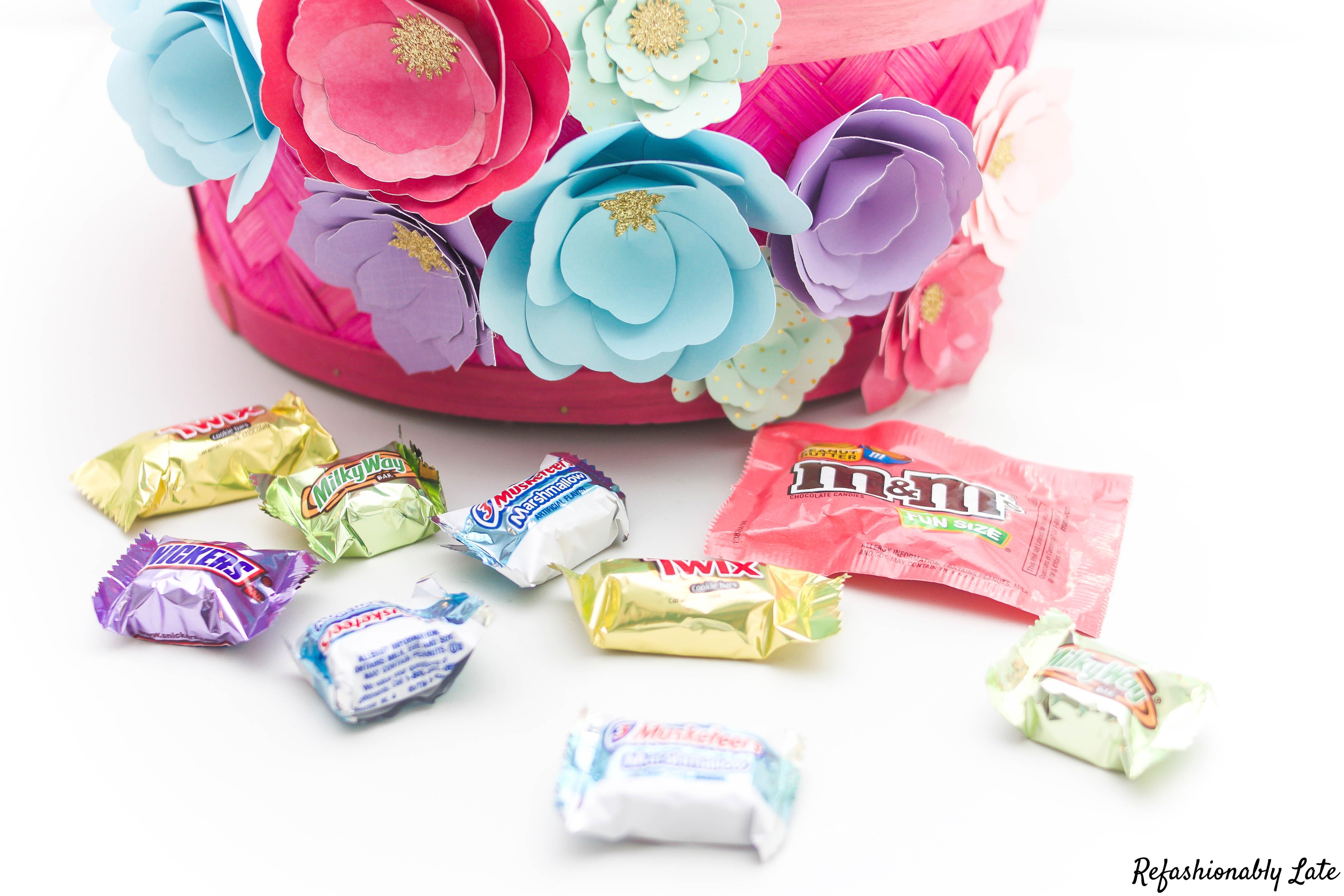 Paper Flower Easter Basket Refashionably Late