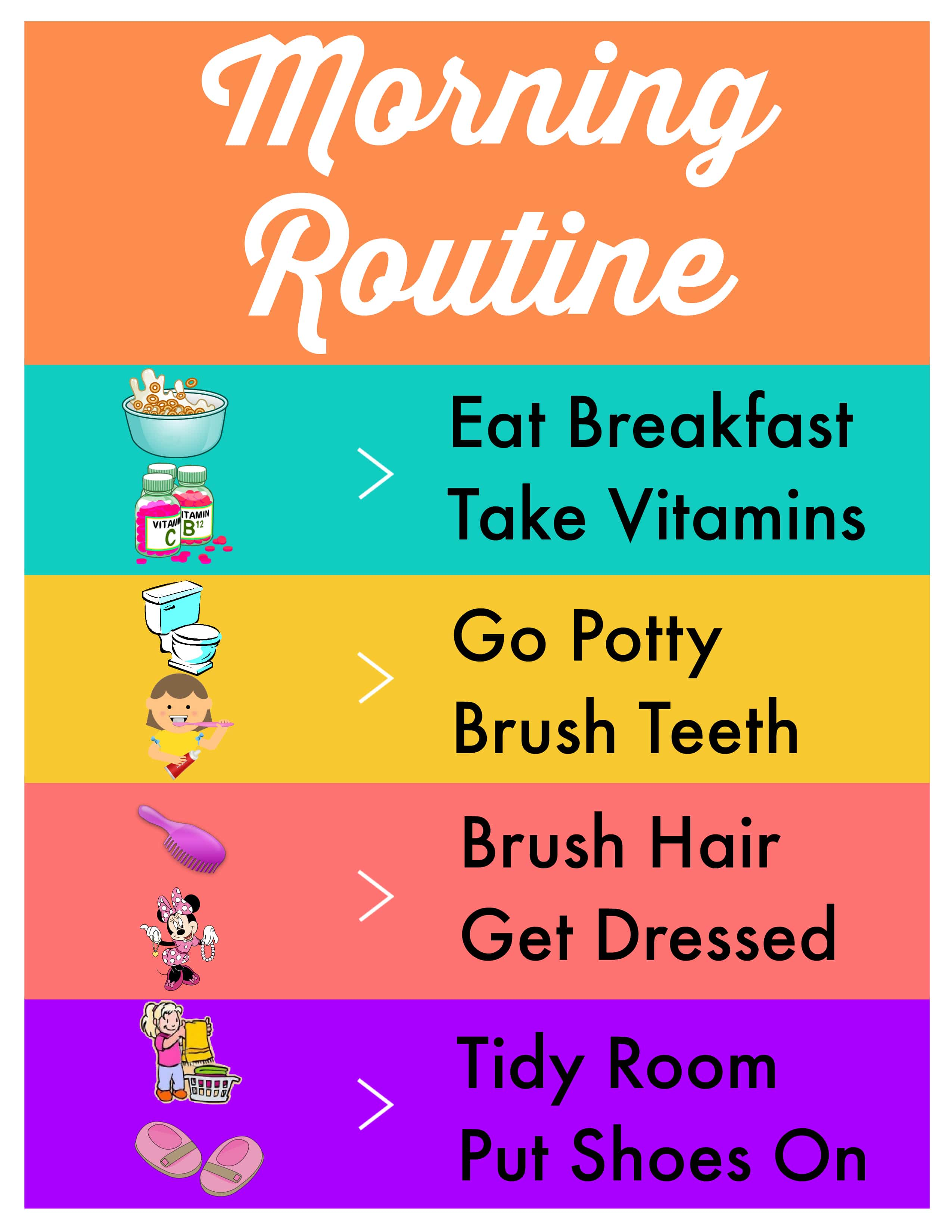 Our Morning Routine + Free Printable - www.refashionablylate.com