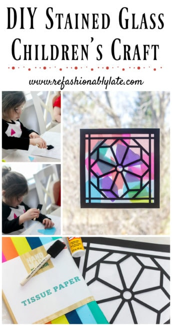 DIY Stained Glass Window Children's Craft - www.refashionablylate.com