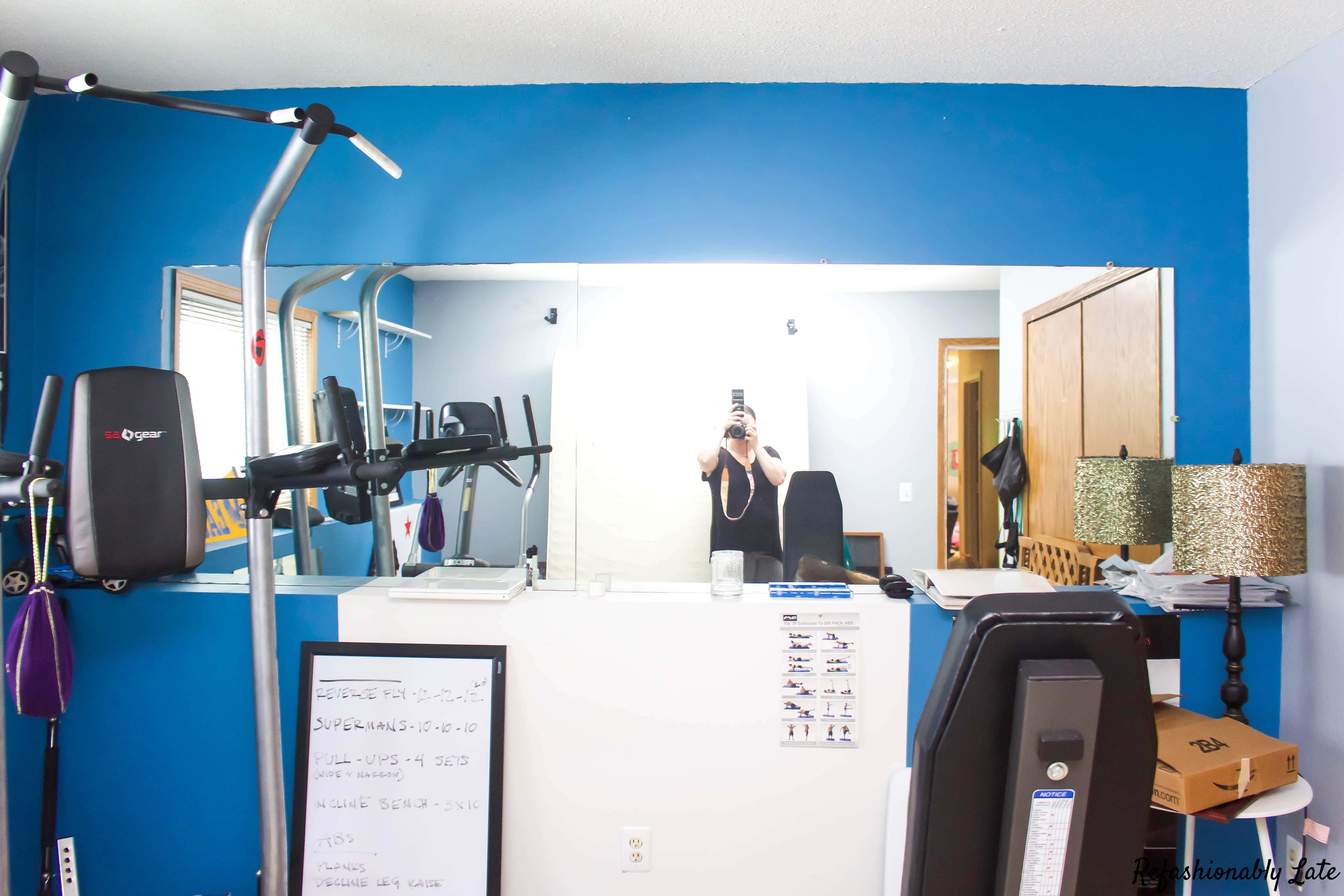 One Room Challenge Final Reveal Gym/Guest Room - www.refashionablylate.com