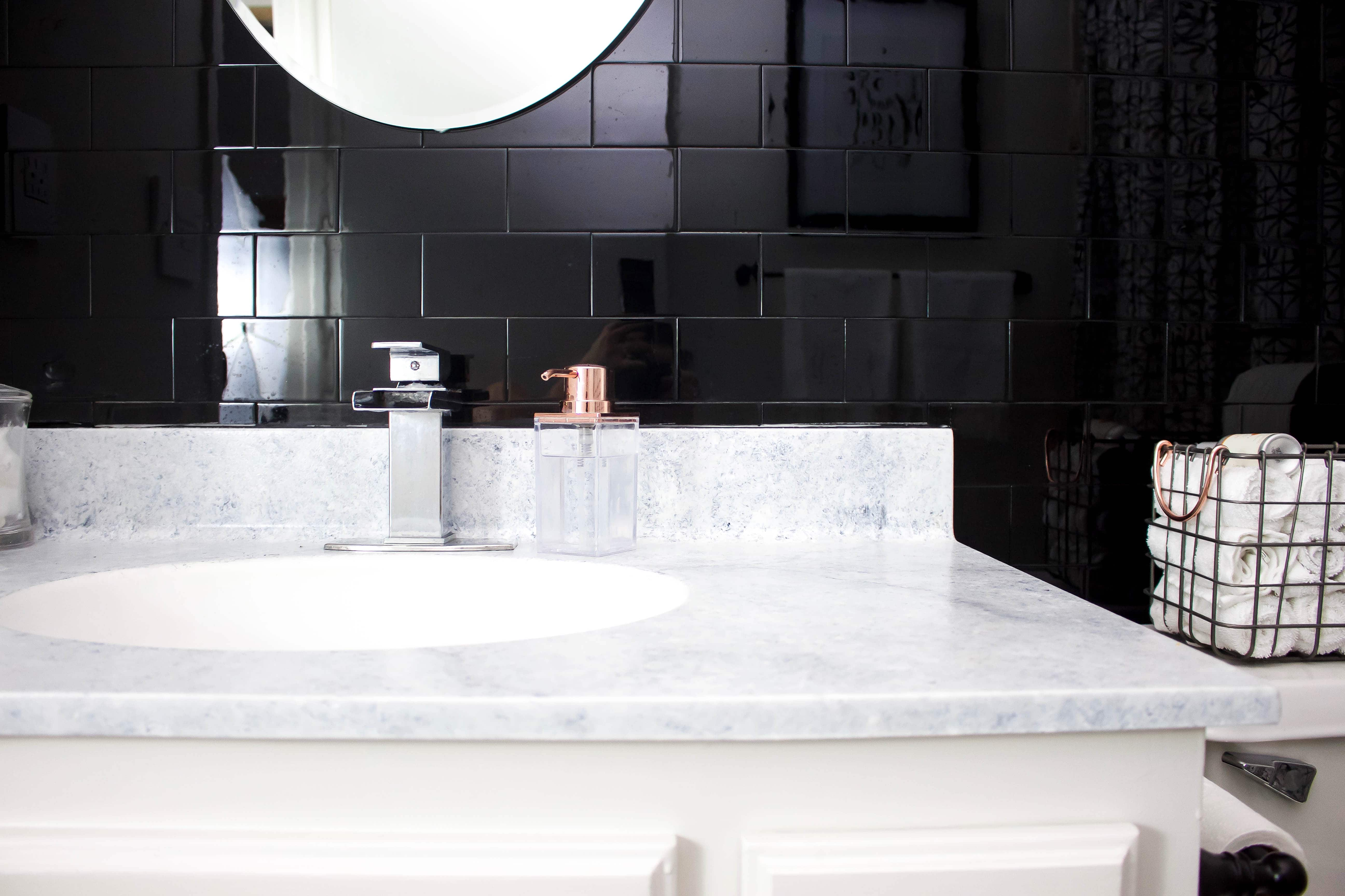 small bathroom makeover wwwrefashionablylatecom - Small Bathroom Makeover