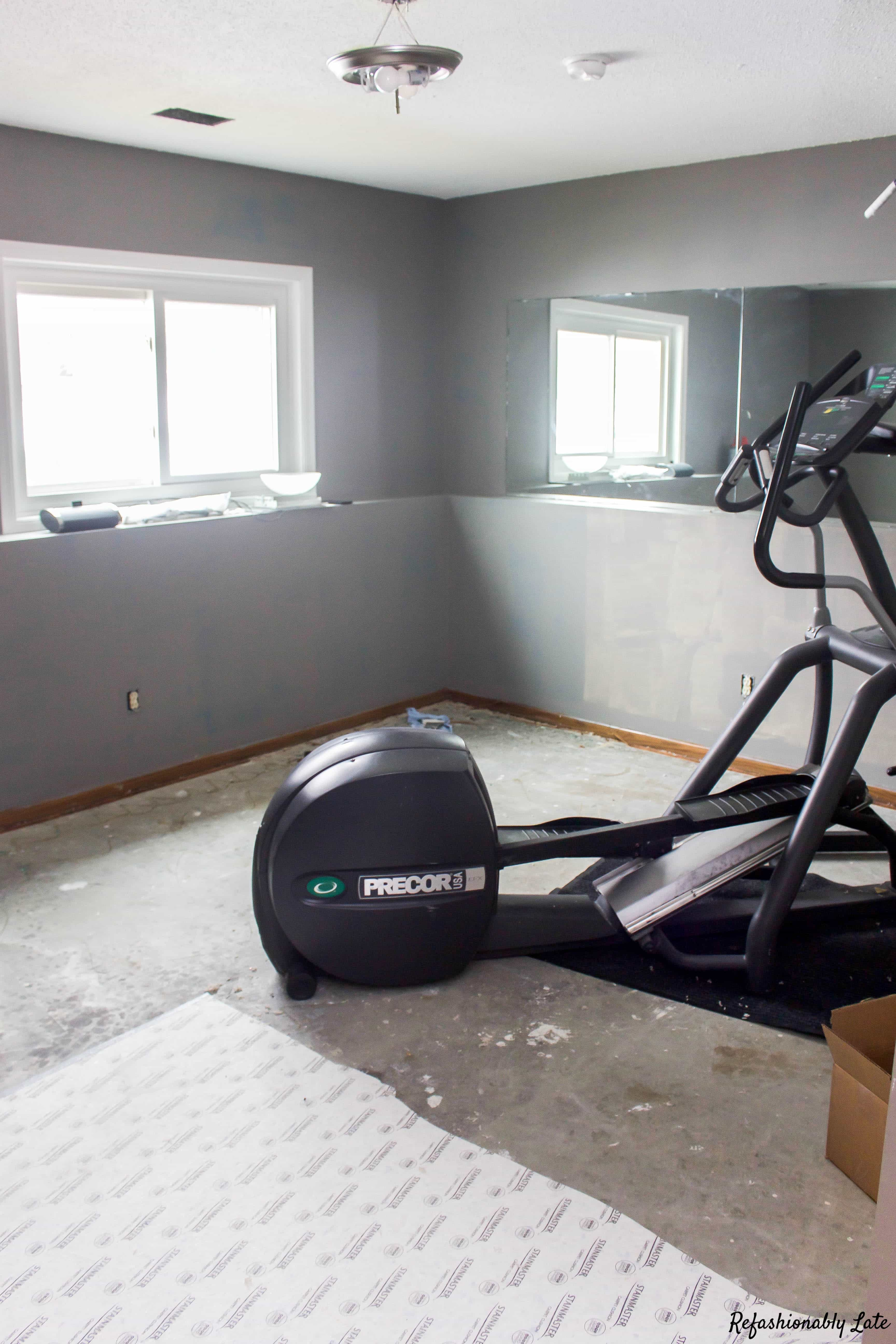 One Room Challenge Week 2 Gym/Guest Room - www.refashionablylate.com