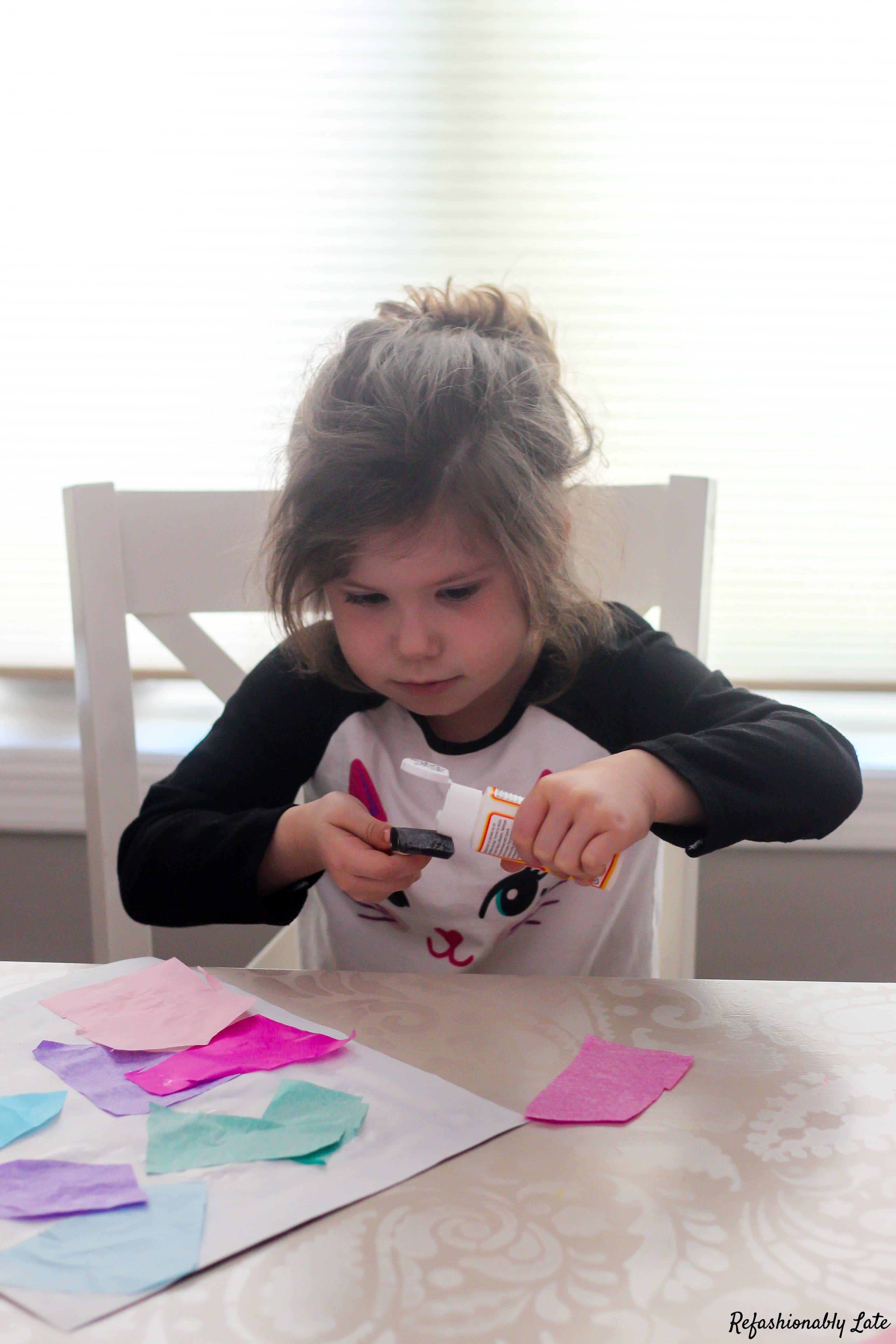 DIY Stained Glass Window Children's Craft - www.refashionablylate.com
