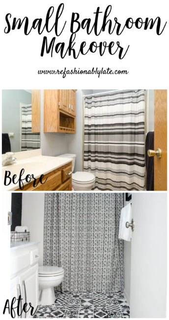 Small Bathroom Makeover - www.refashionablylate.com