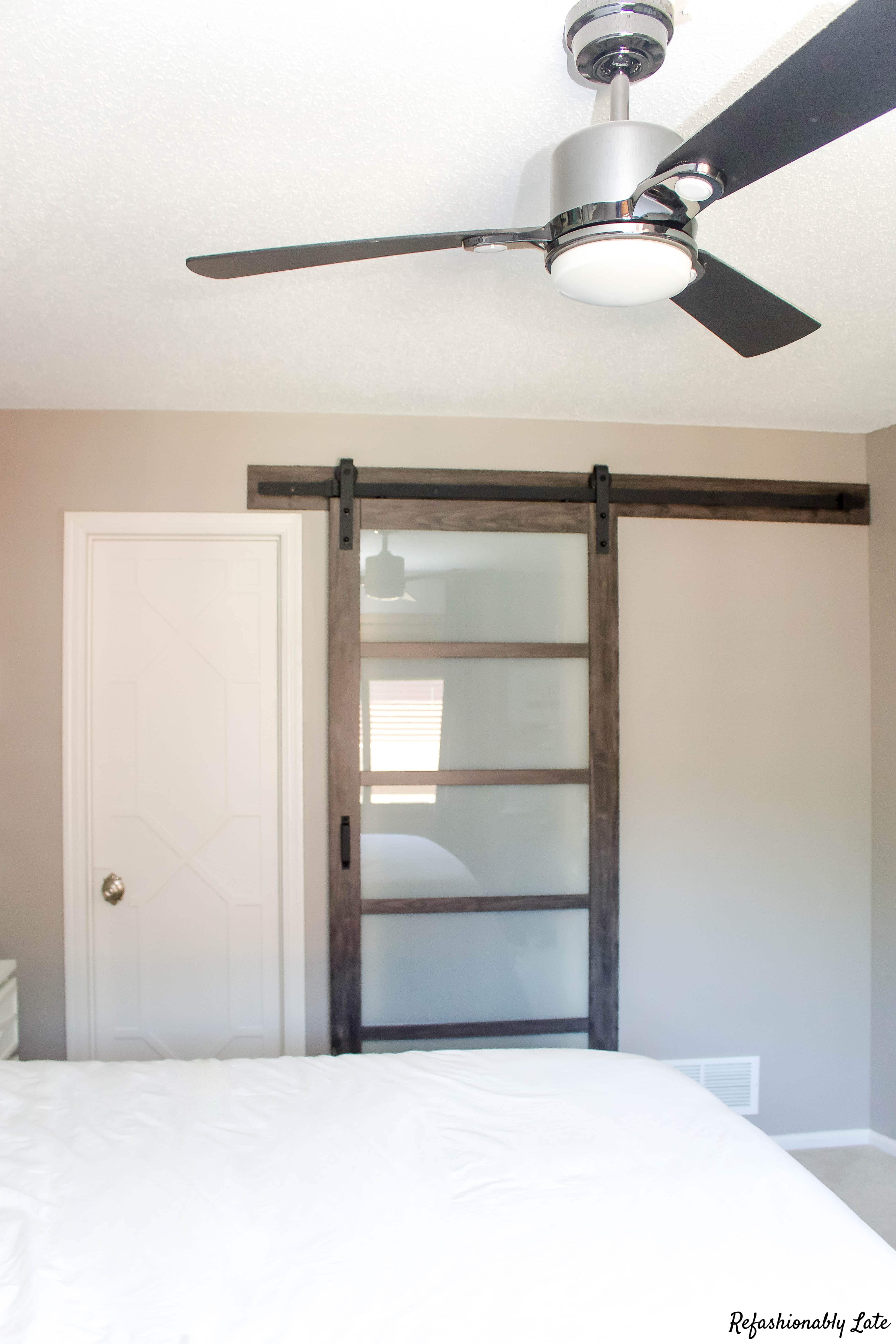 I Finally Got a Barn Door - www.refashionablylate.com
