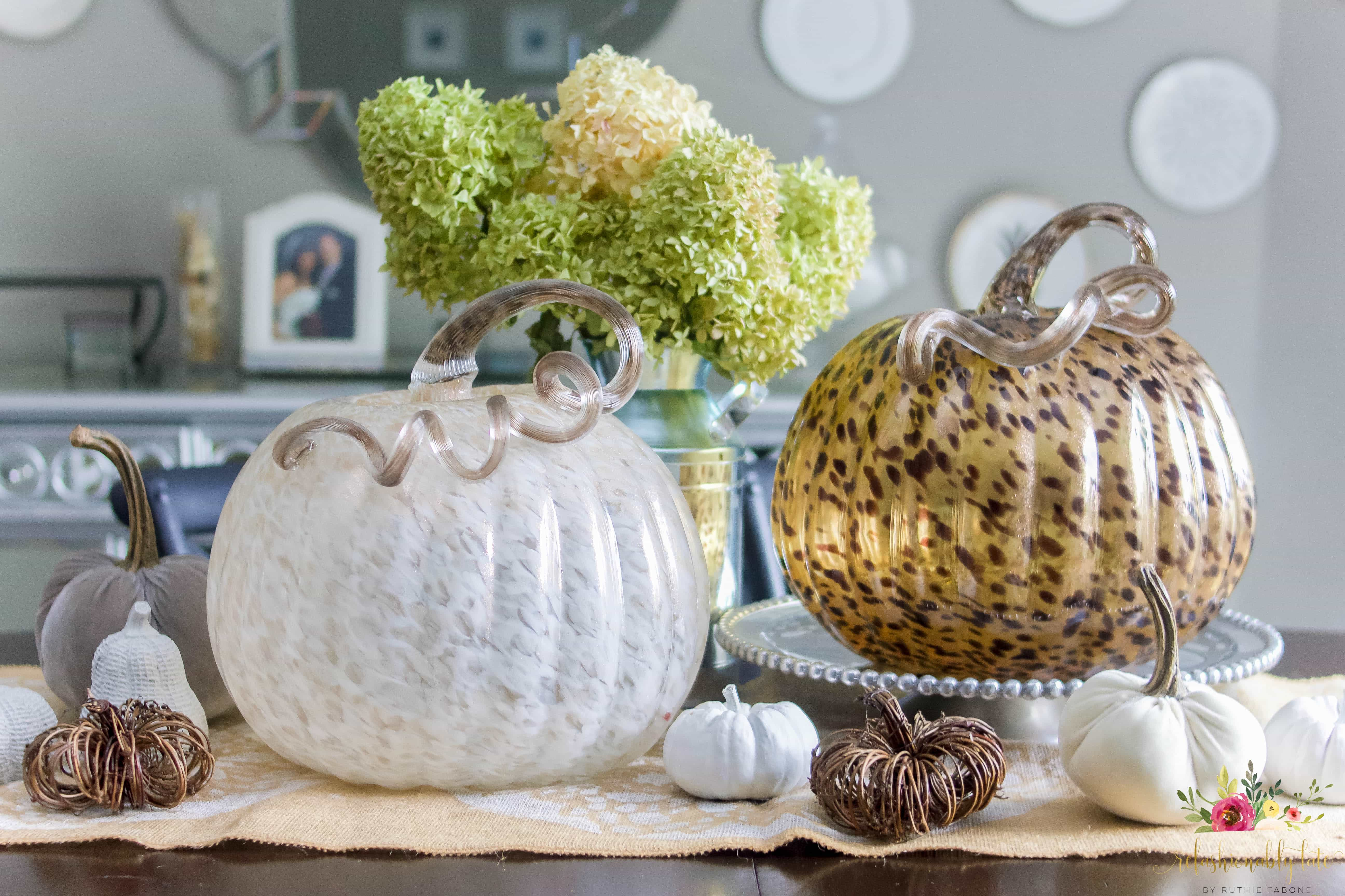 Quick and Simple Fall Centerpiece - www.refashionablylate.com