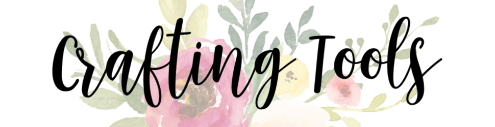 faded floral background with text crafting tools