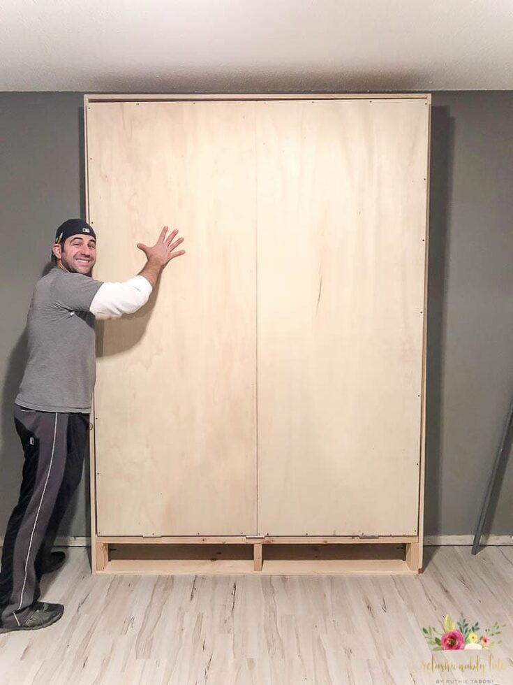 Diy Murphy Bed With Free Plans, Queen Size Murphy Bed Plans