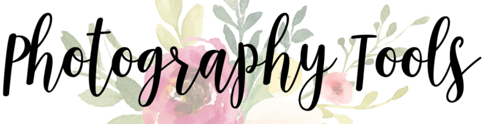 faded floral background with text Photography Tools