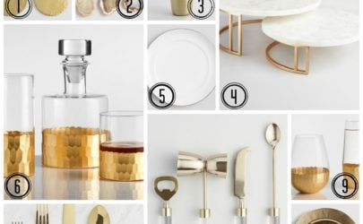 10 gold items that are great for entertaining from Cost Plus World Market
