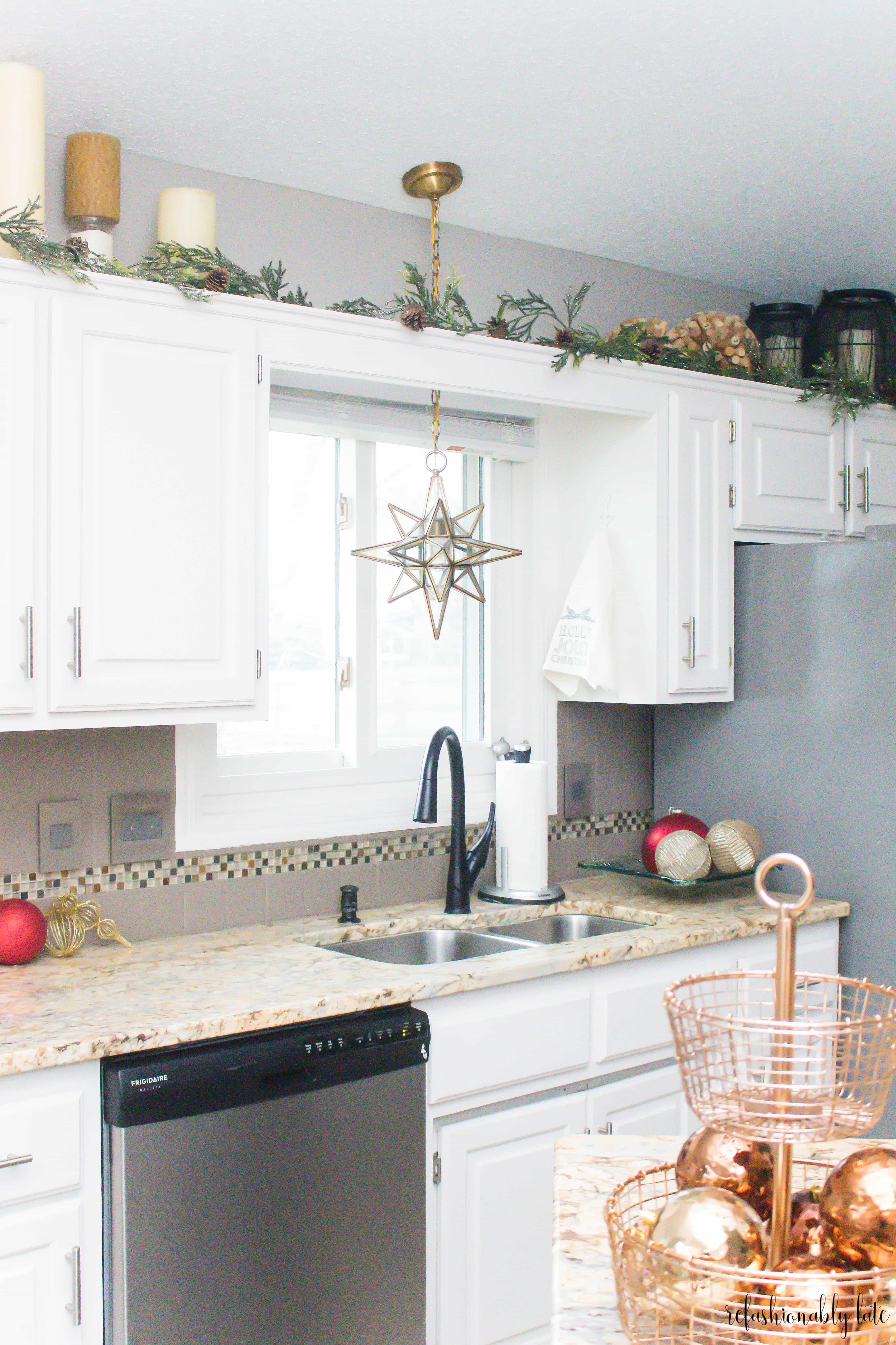 Christmas kitchen home tour • refashionably late