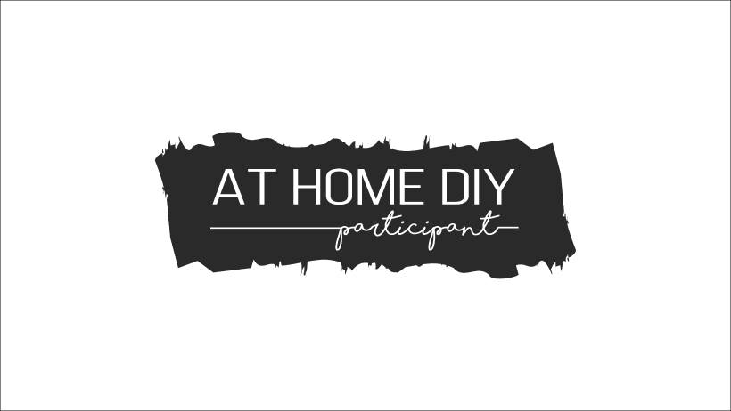 black logo with text at home DIY participant