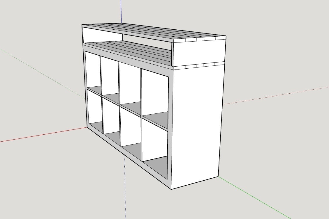 ikea cube storage building plans with an extra shelf on top