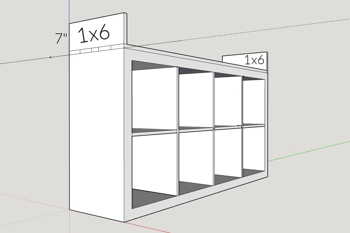 IKEA TV Stand Hack with building measurements