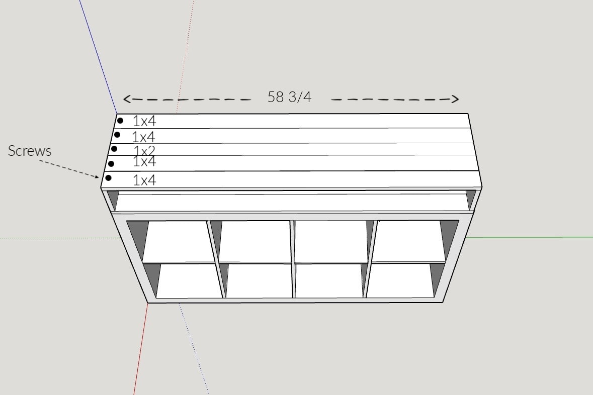 IKEA Kallax hack building plans with measurements