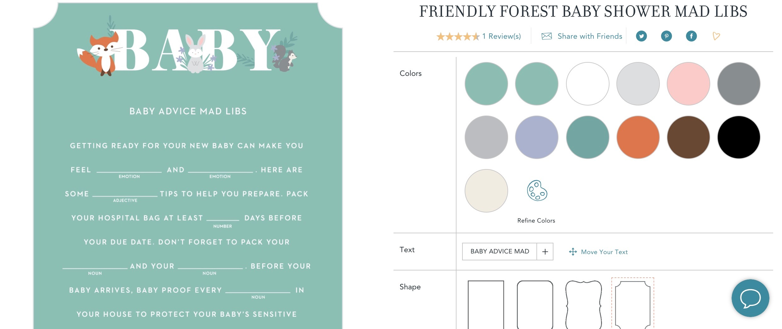 screen shot of basic invite website with baby shower game designs