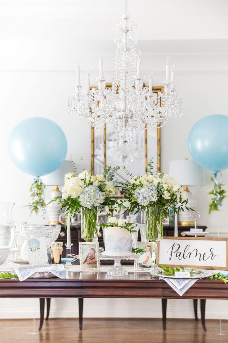 Elegant Blue & White Baby Shower