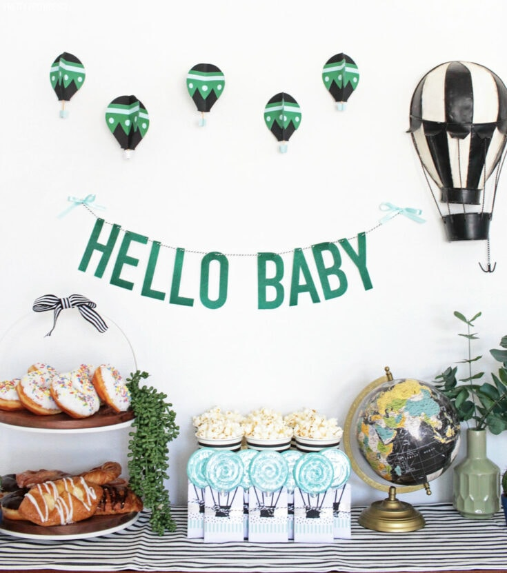 Hot Air Balloon Baby Shower - Baby Boy Shower Decorations
