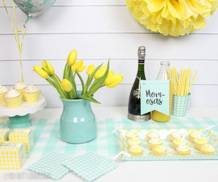 Gender Neutral Baby Shower Decor with Cricut