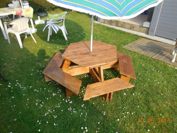 Kids Pallet Picnic Table