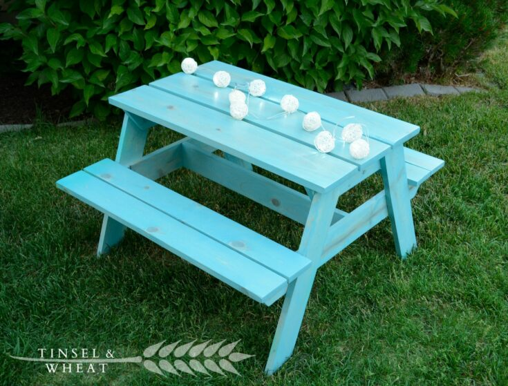 DIY Kids Picnic Table - Plans From Ana White