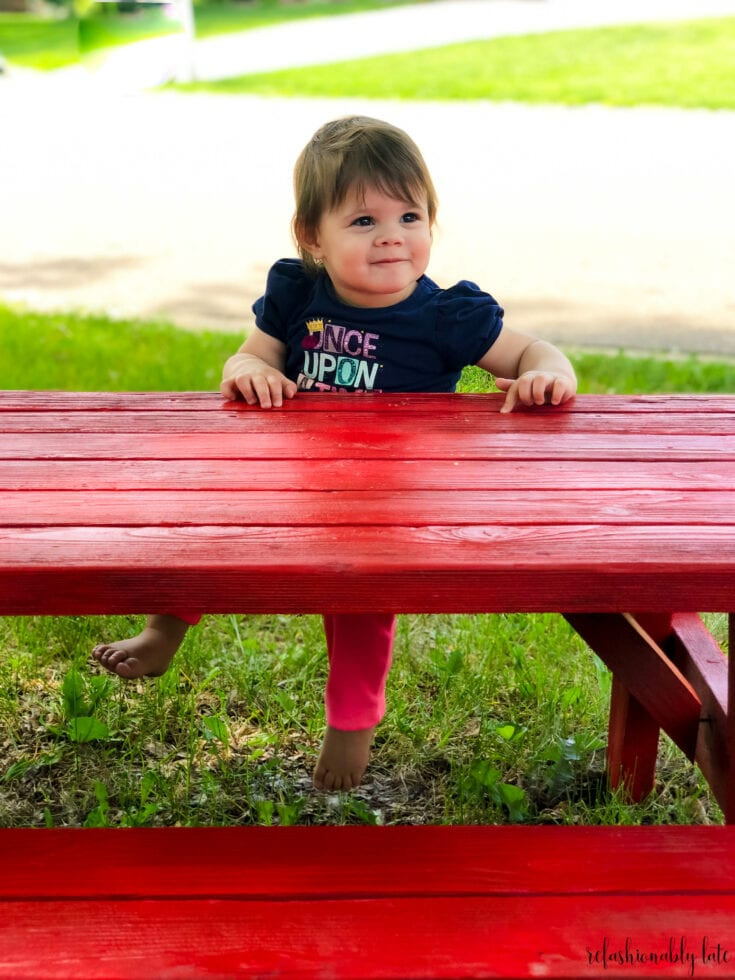Quick Children's Picnic Table Makeover
